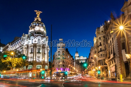 gran via de madrid espanya europa