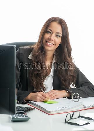 businesswoman on pc