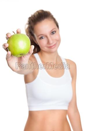 mulher alimento saude fruta dieta caloria