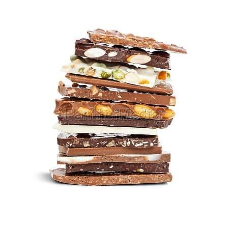 mistura de chocolate