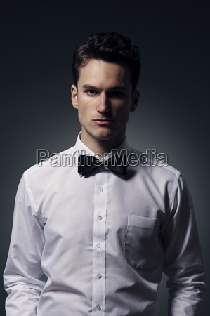 portrait of handsome young man wearing