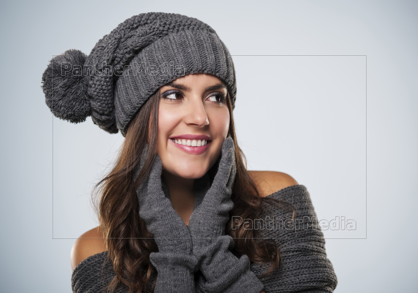 roupa, desgastando, do, inverno, da, mulher - 12112648