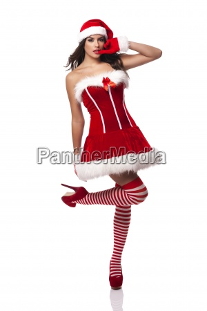 sexy and passionate santa woman