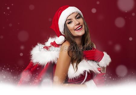 magic time with sexy santa woman