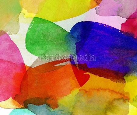 cores coloridas do verao do watercolour