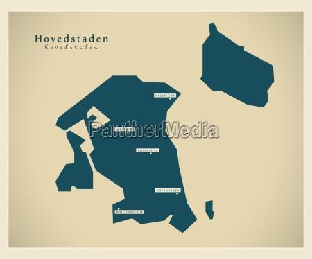 mapa moderno hovedstadens dk