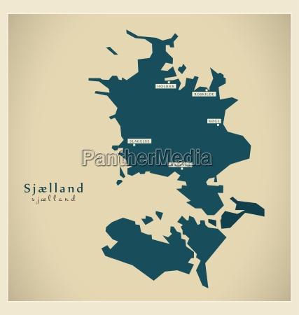 modern mapa sjaelland dk