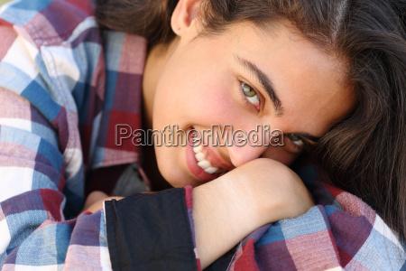 portrait of a beautiful teenager girl
