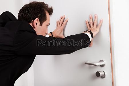 fechar escritorio porta acordo negocio trabalho