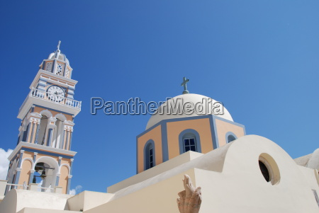 catholic church cathedral santorini john the