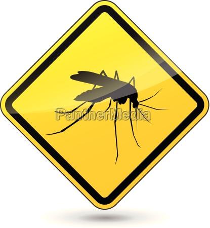 vector cuidado com mosquitos sinal