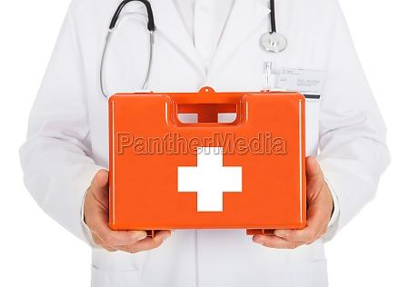 caixa do kit de primeiros socorros