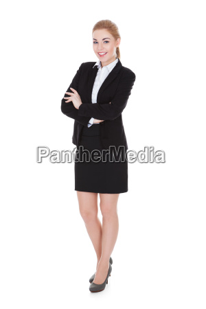 happy young businesswoman