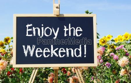 aproveite o fim de semana