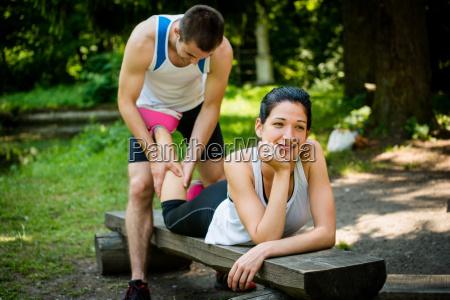 esporte esportes desfrutar massagem bezerro diversao