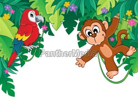 imagem com tema de selva 5