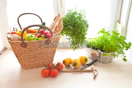 compras fresco do mercado dos fazendeiros