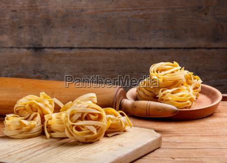 fettuccine italiano caseiro da massa