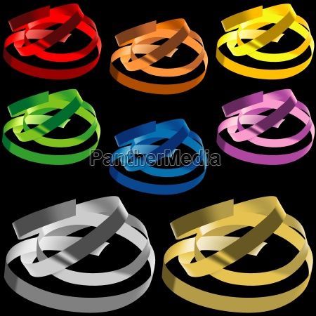 metalico colorido confete metais