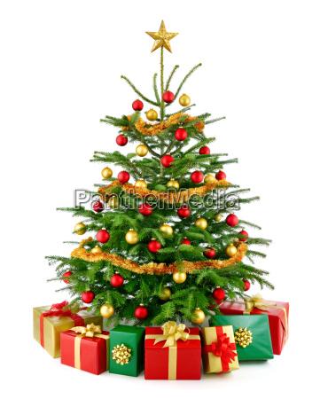 arvore de natal perfeita com presentes