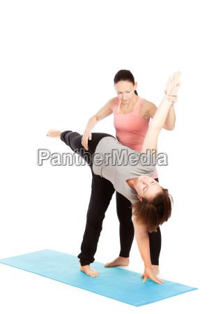 o professor da ioga da a