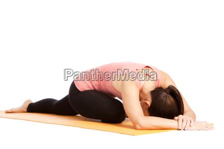 yoga exercicio na esteira eka pada