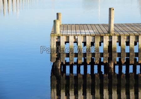 azul madeira ponte cais pier molhe