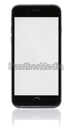 novo telefone com tela em branco