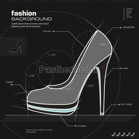 design de sapatos de mulher vetor