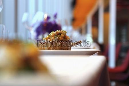 restaurante natureza morta apresentacao cor elegancia