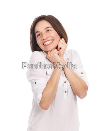 mulher risadinha sorrisos belo agradavel liberado