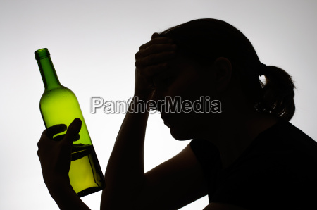 mulher beber bebida projeto silhueta problema