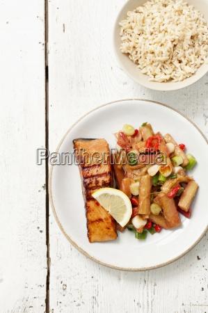 comida interior pescado serie cocina vegetal