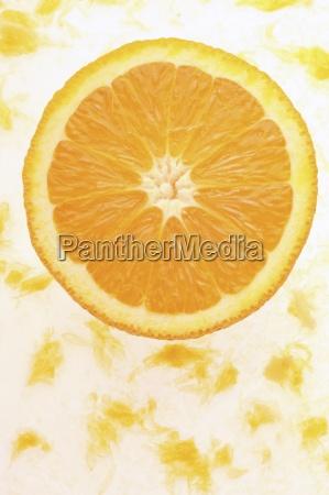 naranja primer plano interior serie fruta