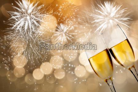 partido celebracao saude cristal champanhe ano