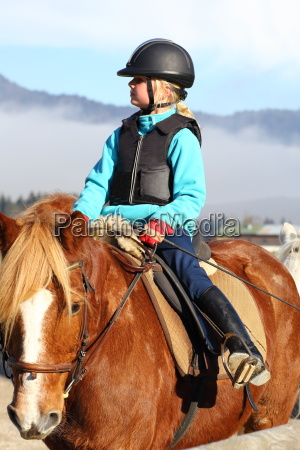 girl in riding