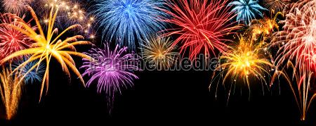 panorama de fogos de artificio em