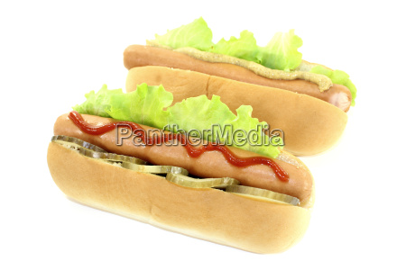 hot dogs with cucumber mustard and