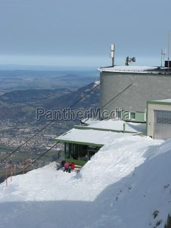 elevador inverno turismo alpes caminhada austria