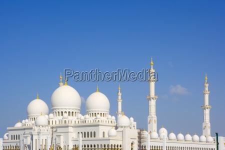 grande mesquita em abu dhabi emirados