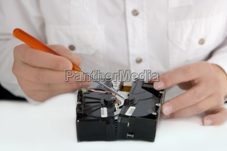 tecnico do computador no trabalho