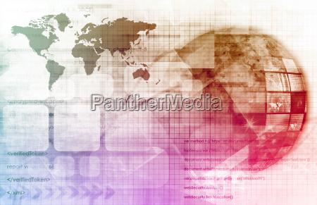 conectado industria industrial satelite futurista conexao