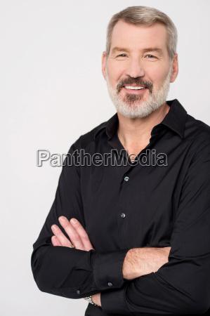 casual man looking at camera