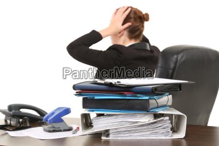mulher escritorio secretario vida cotidiana puro