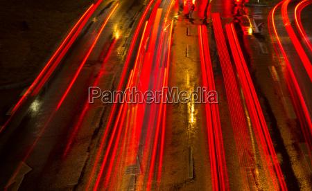 a noite luzes carro veiculo transporte