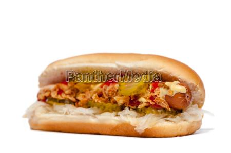 hotdog cachorro quente na frente do
