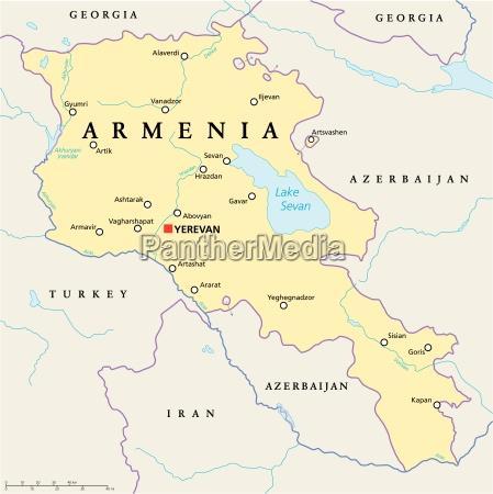 politicamente europa armenia mapa caucaso