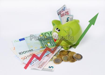 com sucesso bem sucedido grafico moeda