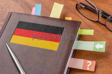 calendario com a bandeira de germany