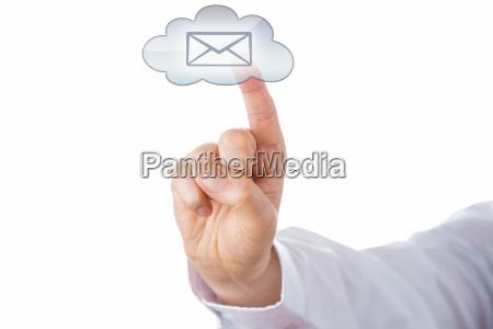 nuvem e mail recortar contar rede